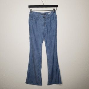 Level 99 Newport Wide Leg Chambray Pants